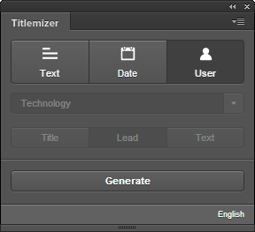 Generate titles, leads and texts!